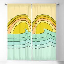 ride rainbows // retro surf soul // art by surfy birdy Blackout Curtain