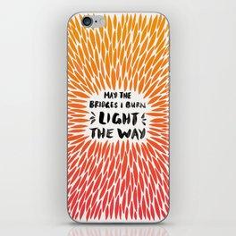 Bridges Burned – Fiery Palette iPhone Skin
