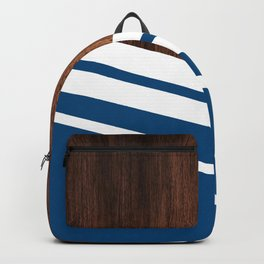 Wood of blue Backpack