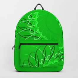 Spirographs green on a green background. Backpack