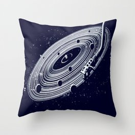 The whole idea of music from the beginning of time was for people to be happy Throw Pillow