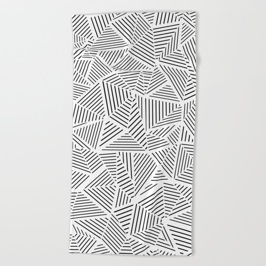 Abstraction Linear Inverted Beach Towel