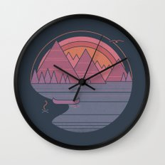 The Mountains are Calling Wall Clock