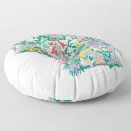 Wisconsin Wildflowers Floor Pillow
