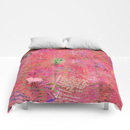 coral tiger love Comforters