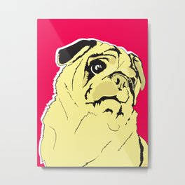 Shmoo the pug Metal Print