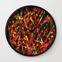 My Favorite Fall Color Is Plaid Wall Clock