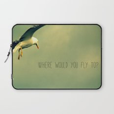 Where would you fly to? - Seagull Laptop Sleeve