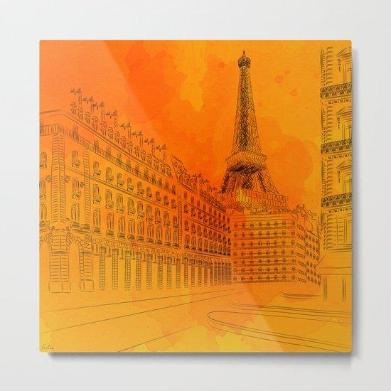 Parisian Sunsets Metal Print