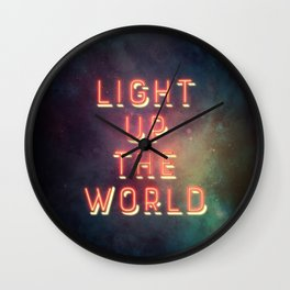 Light Up The World Wall Clock