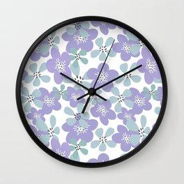 Maya Periwinkle Wall Clock