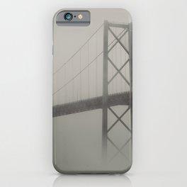 Bridge in Fog iPhone Case