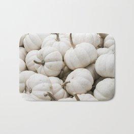 Bushel of White Pumpkins Bath Mat