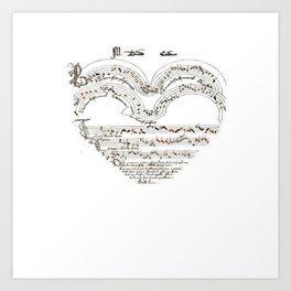 Chanson L'Amour Vintage Romance Art Print