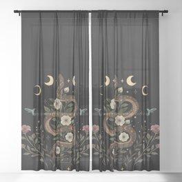 Serpent Spell Sheer Curtain