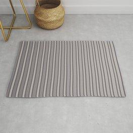 Grey Metal Bars Vertical Lined Stripes Rug