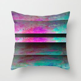 Turquoise Color Blinds Throw Pillow