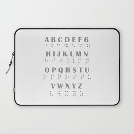 Braille Inspired Alphabet Laptop Sleeve
