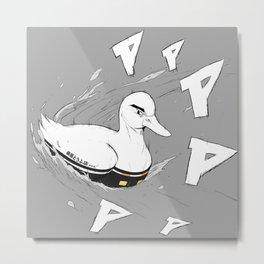 Initial Duck by bluethebone Metal Print