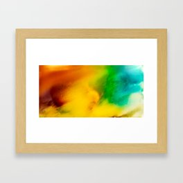 The Fall is Coming -  Abstract Ink and Resin Art Framed Art Print