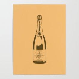 Veuve Champagne Bottle Pop Art Poster