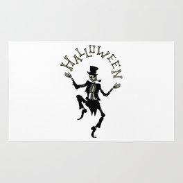 dancing skeleton halloween Rug