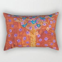 Rust Tree of Life by Gert Mathiesen Rectangular Pillow