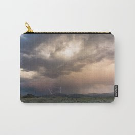 Yellowstone National Park - Sunset storm over the Washburn Range Carry-All Pouch