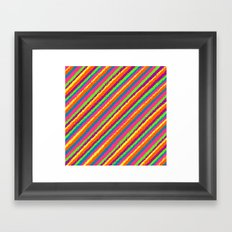 Crazy Colorz Framed Art Print