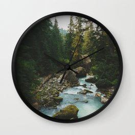 White Chuck River - Pacific Crest Trail, Washington Wall Clock