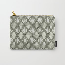 Braided Diamond Simply Green Tea on Lunar Gray Carry-All Pouch
