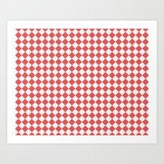 Red Diamonds Art Print
