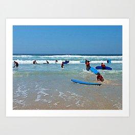 Surf school Art Print