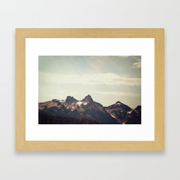 Mountain Ridge Morning Framed Art Print