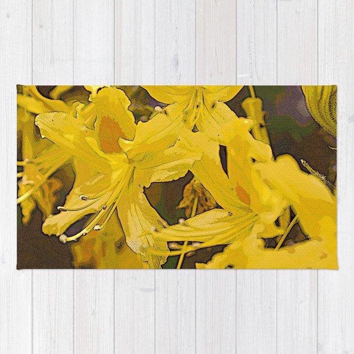 Yellow Summer Flowers Rug