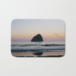 Sunset Surfers - Oregon Coast Bath Mat