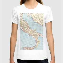 Italian Vintage Map of the Sixties T-shirt
