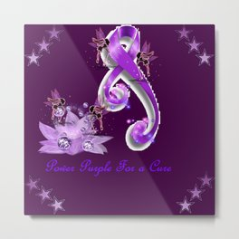 Power Purple For a Cure - Fantasy Metal Print