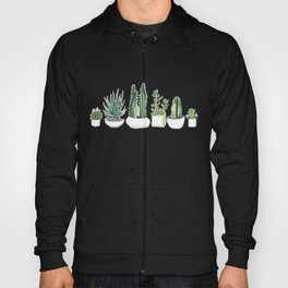 Watercolour Cacti & Succulents Hoody