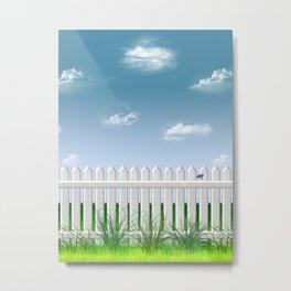 The Garden Fence Metal Print