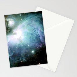 Teal Blue Orion Nebula Stationery Cards