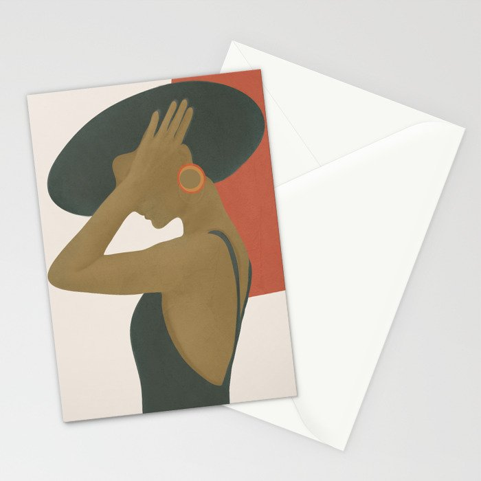 Lady in a Black Dress Stationery Cards
