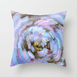 Whirlpool Psychedelic Abstract Throw Pillow