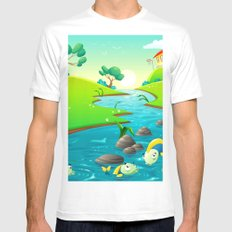 Magical Landscape Mens Fitted Tee White MEDIUM