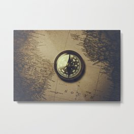 The old compass Metal Print