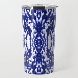 Ayashi Shibori Ikat Blue Travel Mug