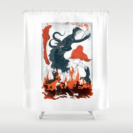 A Jersey Devil Haunting Shower Curtain