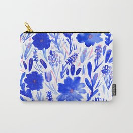 Blue Blooms Carry-All Pouch