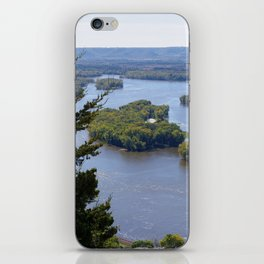 Upper Mississippi River, looking downriver from Buena Vista Park, Alma, WI iPhone Skin