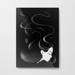 Black hair Metal Print